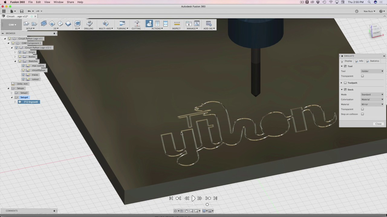 Fusion 360 Tutorial – Engraving Acrylic with CAM