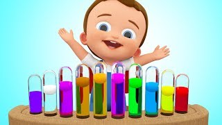 Learn Colors for Children with Baby Piano Toy Play Music Kids Toddler Educational Video