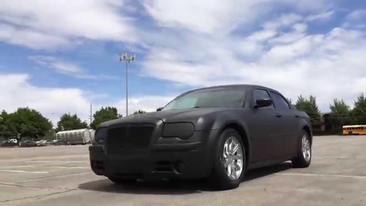 matte black plasti dipped chrysler 300c youtube. Black Bedroom Furniture Sets. Home Design Ideas