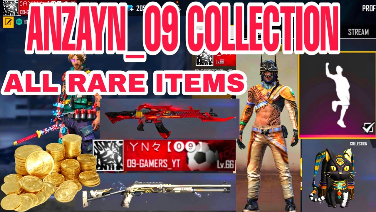 MY FULL COLLECTION 💎 FREE FIRE | 09GAMERS
