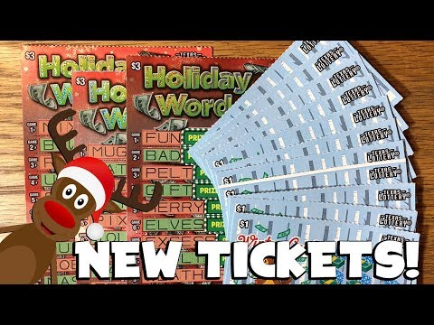 NEW HOLIDAY TICKETS!! 11X Winter Cash + 3X Holiday Word Blast! ✦ TEXAS LOTTERY Scratch Off Tickets