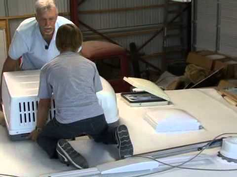 A Brief Look At Installing An RV Air Conditioner By RV Education 101®    YouTube