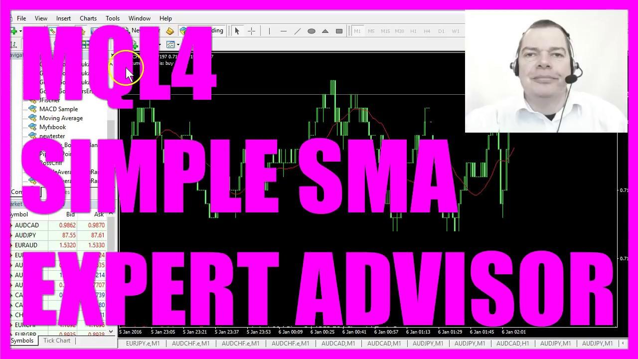 Mql4 Tutorial Simple Sma Expert Advisor Youtube