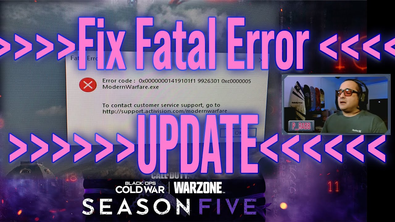 Download Call of Duty Warzone Season 5 Fatal Error Fix - Updated Fix for PC!