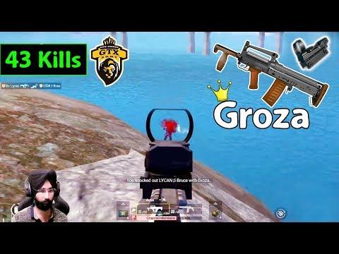 Groza is Monster || 43 Kills || PUBG MOBILE