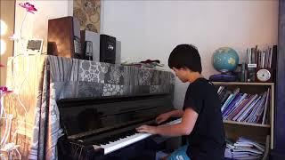 Reina piano practice, Chopin Fantasie Impromptu (a part) 久しぶりに...