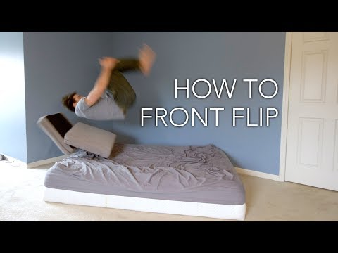 How to Front Flip - Learn Inside the House Now