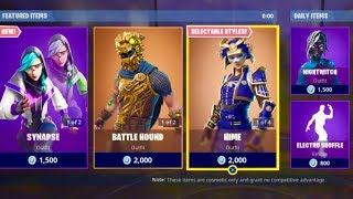 FORTNITE *NEW* SYNAPSE SKIN SET & HEX WAVE WRAP + SLICK EMOTE!