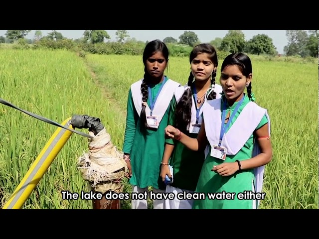 Three girls from Pratham's 'Second Chance' Program solved the water problem of their village