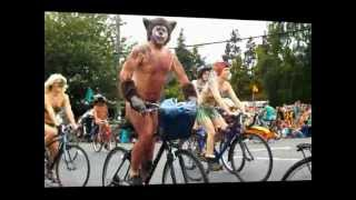 2012 Fremont Summer Solstice Parade Naked Cyclists