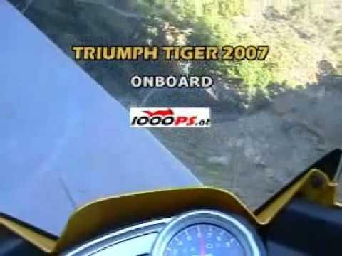 Triumph Tiger 1050 onboard test ride / Testfahrt mit Kamera