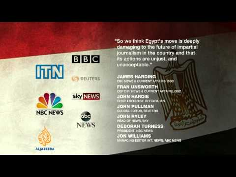 UK journalists call for free press in Egypt