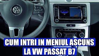 TUTORIAL: cum accesezi meniul ascuns / secret la VW Passat B7 (2010 - 2015)