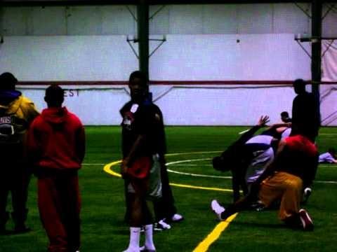 Leonard Sanford Jr. Rivals Camp 40 yard dash West Bloomfield High School # 11