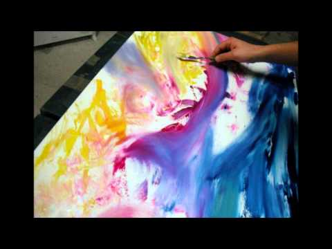 "Artista, pittore astratto - Abstract painter Davide De Palma Gallery ""painting in progress"""
