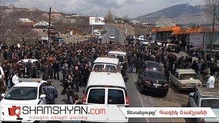 Նորից լարված իրավիճակ՝ Արագածոտնի մարզում. գյուղացիները փակել են ճանապարհը.