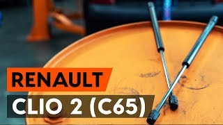How to change gas struts / tailgate struts on RENAULT CLIO 2 (C65) [TUTORIAL AUTODOC]