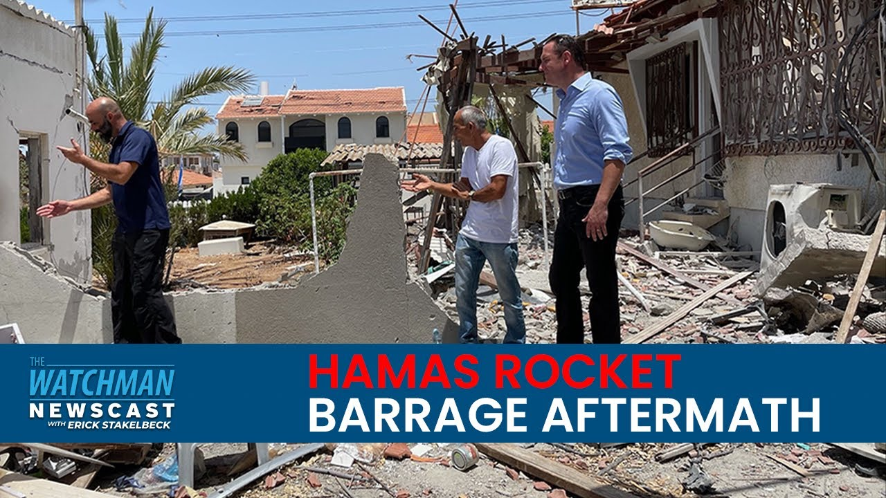 Israeli Home DESTROYED by HAMAS ROCKET; An Up-Close Look   Watchman Newscast