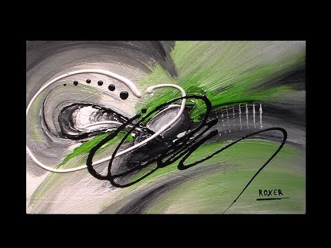 Abstract painting in acrylics / Abstract art / Purity by Roxer Vidal