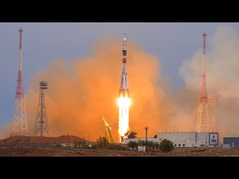 Soyuz MS-06 Three Astronauts Launching To ISS Expedition 54 (Misurkin, Vande Hei, Acaba) - Live