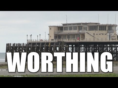Worthing Pier & Worthing beaches - shore fishing locations, West Sussex, England, Britain