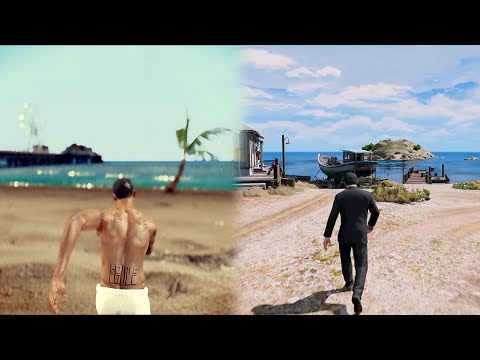 GTA SA Remastered Graphics Mod Vs GTA 5 PC