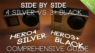 GoPro Hero4 SILVER vs GoPro Hero3+ BLACK HD