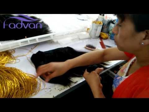 Qingdao Fadvan Hair--Hair weft's manufacturing process