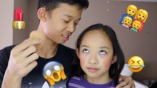 BROTHER DOES MY MAKEUP ft. CHRISTIAN | Nicole Laeno