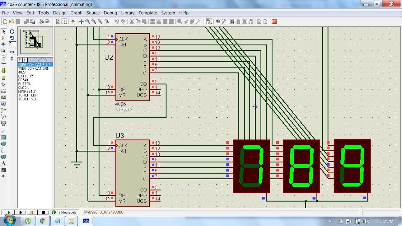 4026 Counter Circuit