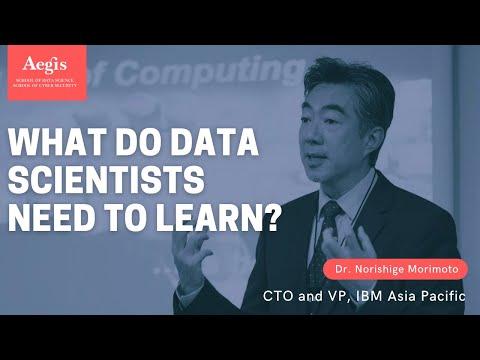 Dr. Norishige Morimoto, CTO & VP, IBM Asia Pacific speaking at Aegis School of Data Science, Mumbai
