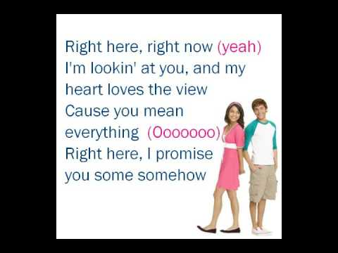 Right Here, Right Now - lyrics [HMS3/ZAC&VANESSA]