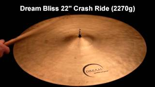 "Dream Bliss 22"" Crash Ride (2270g)"