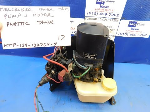 FOR SALE - Mercruiser Power Trim Pump and Motor, Plastic Tank $159.95