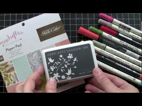 Inking a Stamp with Markers
