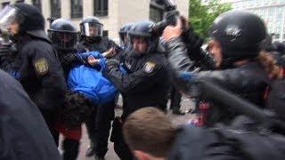 Gewaltsamer Polizeieinsatz nach Ausschreitungen bei Blockupy-Demo 2013 (lange Version)
