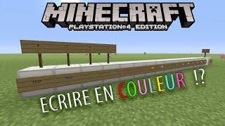Astuce - Ecrire en couleur sur des Panneaux !? (Minecraft Console Edition)