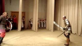 Историческое фехтование. Показательное выступление.