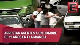 Policías encubiertos capturan a asaltantes de automovilistas