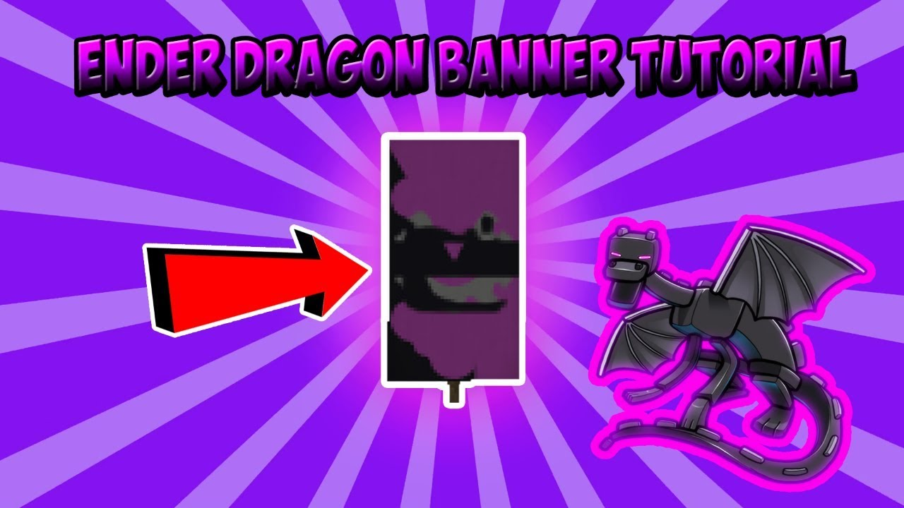 Minecraft Banner Tutorial – How to make an Ender Dragon Banner