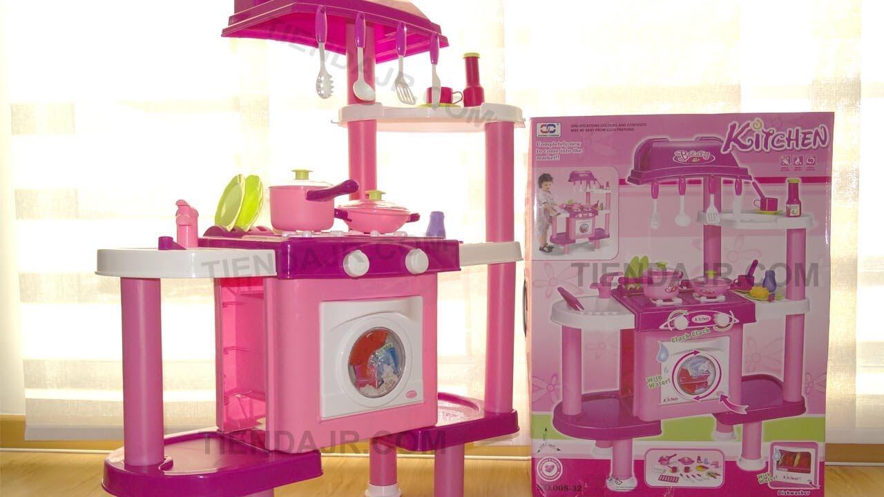 Cocina de juguete para ni as con lavadora y lavaplatos for Cocina de juguete