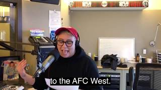 @jordinsilver and @dustinthewind perform their #redfridayrap about the chiefs playing titans.