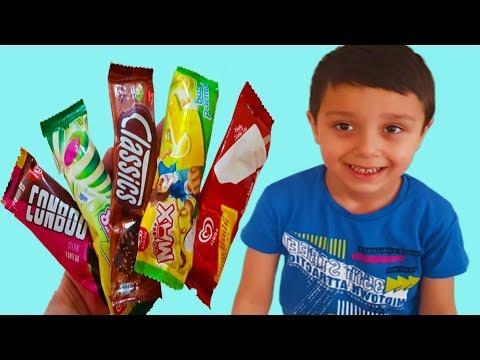 Ali Uras Ve Ömer Kayra Gizli Gizli Dondurma Yedi.Ömer Kayra Hasta Oldu. -  Funny Kids Video