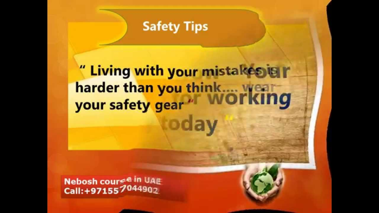 safety slogan   nebosh course in uae   youtube