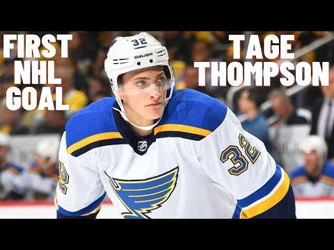 Tage Thompson #32 (St. Louis Blues) first NHL goal 21.12.2017