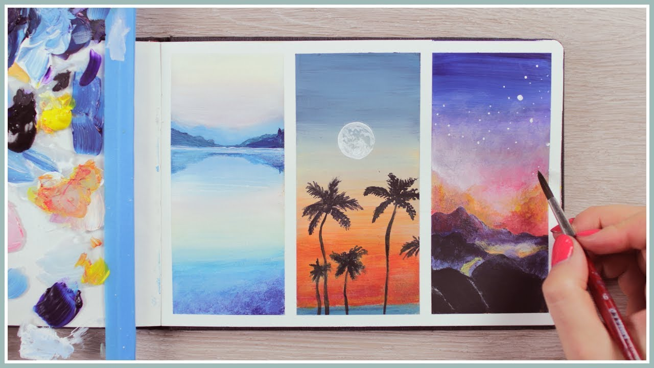 Acrylic Painting Ideas for Beginners  How to Blending