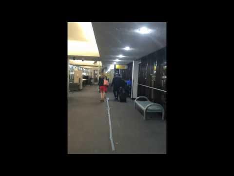 OTW TO BAGGAGE CLAIM Long boring walk NEWARK LIBERTY INTERNATIONAL AIRPORT