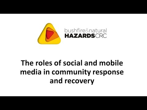 Roles of Social and Mobile Media in Community Response and Recovery