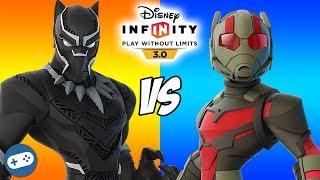 Black Panther VS Ant Man Disney Infinity 3.0 Toy Box Battle Versus