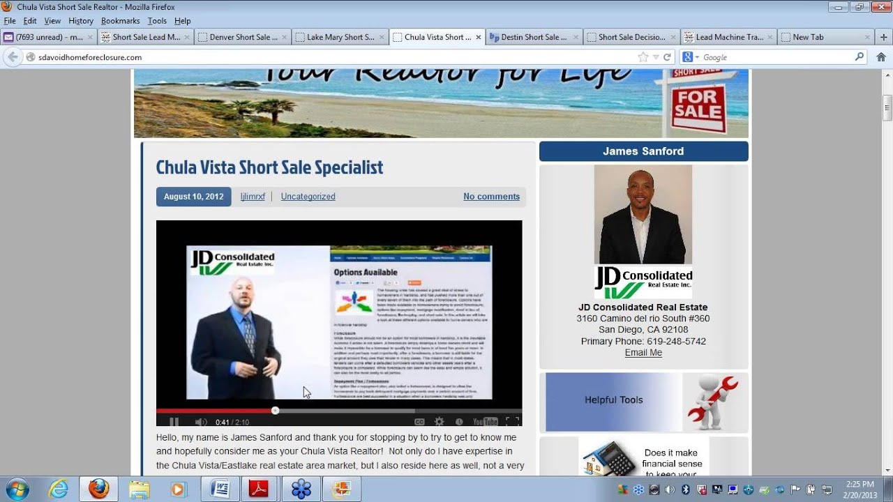 Short Sale Lead Machine Demostration Video Youtube